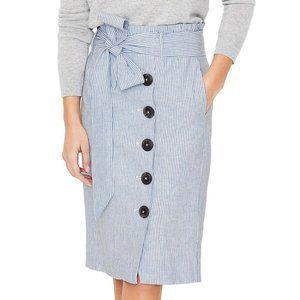 NWT Boden Striped Linen Skirt